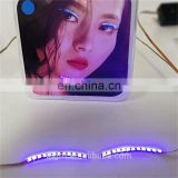 2018 new party magnetic custom made led glowing eyelashes