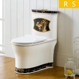 Siphonic bathroom color popular style one piece toilet wc