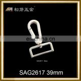 custom zinc alloy Material snap hook with eye and screw