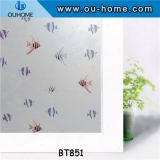 BT851 PVC frosted privacy self-adhesive decorative film