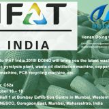 Welcome you to IFAT India 2019 to learn tyre recycling pyrolysis plant on 16-18 October 2019