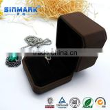 SINMARK customized 2016 luxury leather foam inserts jewelry box gift box for ring/bracelet/ pendant