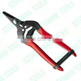 garden scissors pruning tool/ round steel handle garden hedge pruner/ garden ratchet lopper shear