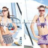 2011 new navy style stripes bikinis;sexy ladies` beachwear;charming swimsuit