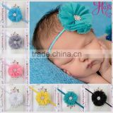 fashion wholesale top baby elastic headband flower hair accessories MY-AD00013