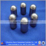 Spherical/domed carbide insert with high performance and good service life for all conditions of deep hole drilling