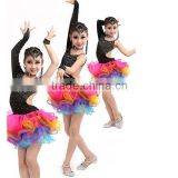 Latest fashioned ballroom professional latin dance costume dress stage salsa dance performance dresses