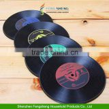 Cup Mats Vintage Vinyl Coasters Groovy CD Record Table Bar Drinks