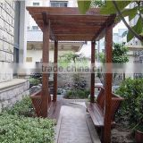 anti-uv waterproof oudoor solid wood Gallery frame/pergola project