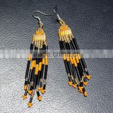 Designer Traditional Rajasthani Glass Bead Work Jewelery Earrings