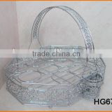 HG676 Wire Made Square Shape Cup Rack 16pcs