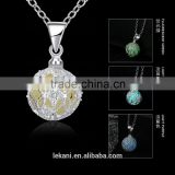 Custom design Luminous pendants necklace glow jewelry blue green color is available