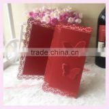 alibaba wedding card suppliers hot sale wholesale price good quality luxury butterfly design laser cut invitation cards