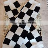 Black white knit children soccer sock wholesale football cotton baby leg warmers                                                                                                         Supplier's Choice