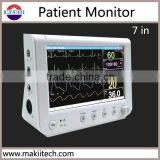 7 inch portable finger spo2 patient monitor with pulse oximeter