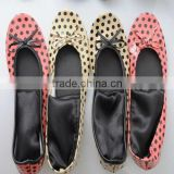 OEM Wholesale portable women soft rollable shoes roll up ballet flats after party dancers