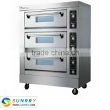 Front Stainless Steel oven pizza 3 Decks 3 Trays fast pizza oven For CE (SY-PV36H SUNRRY)                                                                         Quality Choice