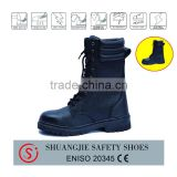 good selling in Russia Rubber sole buffalo leather safety boots safety shoe 9066