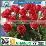 Greenflower 2016 Wholesale Real Touch Latex PU fat rose China Artificial Flowers Rose for wedding decoration