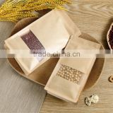 custom kraft paper bag with window/kraft stand up zip pouch                                                                                                         Supplier's Choice