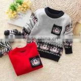 2014 new fashion baby wool sweater design cute baby boy