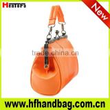 2013 New fashionable lady bag leather material with elegant craft, nice leather lady bag