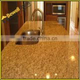 Brazil santa cecilia light gold sparkle quartz stone countertop