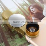 New universal clip 3in1 lens with mirror for mobile phone,fisheye wide angle macro,smart phone camera lens
