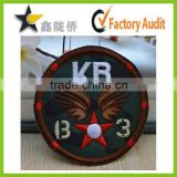 High Quality Laser Cut Heat Seal Backing Round American Flag Woven Patch                                                                         Quality Choice