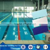 top quality light blue color ceramic swimming pool border tiles