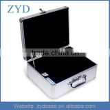 Transporting Storage Briefcase, Lightweight Hard Tool Case, Aluminum Silver Briefcase ZYD-LX92202