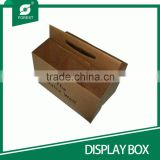 CHINA FACTORY SUPPLIER CUSTOM MADE BROWN PAPER DISPLAY BEER BOX SIX WINE BOTTLES HOLDERS