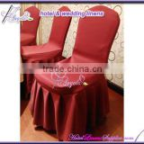 luxury burgundy chair cover with skirt pleats, luxury pleated chair covers on skirt part for banquet chairs