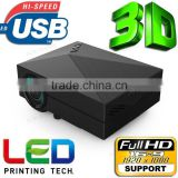 2015 Home Theater 1000Lumens HDMI USB 3D Red Blue LCD Mini 1080P LED Wifi Wireless Video Portable Projector FULL HD proyector