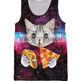 Fashion 3d printing cute cat kittentacos and pizza galaxyTank Top Basketball Vest jersey