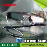 New Model!! Super Slim Universal 3D Active Shutter Glasses with IR, Bluetooth, DLP-Link Signal