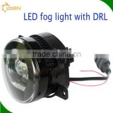 12V Projector lens led fog light with DRL H1,H3,H4,H7,H11,9004,9007,880,881,H8,H9,H11,9005,9006 angel eyes fog lamp