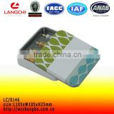 Metal tin box for band-aid for wholesale with square shape