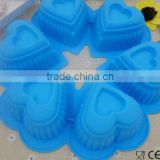 Valentine's Day Heart - Shaped lace 6 Cavity Silicone Cake Mould Muffin Cup Soap Mould Chocolate Mould Baking Tray