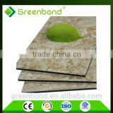 Greenbond Anti-Static marble decorative aluminium plastic composite wall covering panel acp acm