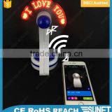 bluetooth phone changeable message led light up fan