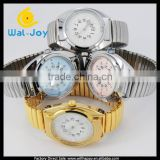 WJ-3548-1spring watchband high quality japan movement touch waterproof talking watch