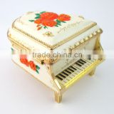 New high quality metal Music Jewelry Box in Piano Shape, various color for choice, various design, OEM designs accepted