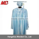 Sky Blue Shiny Graduation Gowns For Kids