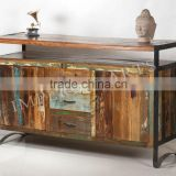 INDUSTRIAL FURNITURE IRON WOOD SIDE BOARD