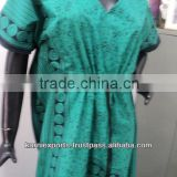 Black & green color printed kaftan / Ethnic printed ladies wear abaya & kaftan dress in summer wear