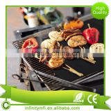 High Quality IN521 Mat BBQ Grill Mat Nonstick Oven Liner BBQ Grill Mat For Electric, Gas And Toaster Oven Teflon Cook Sheet