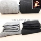Knitted men's socks spring breathable absorbent cotton cotton hand knit socks china factory