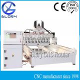 Multi Head 4 Axis CNC Machine with Eight 2.2KW Water Coolant Spindles, NC Studio Controller, 225*3000mm Working Area