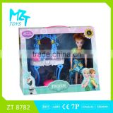 2016 New !Eco-friendly PVC11 inch movable joints doll +dressing table+accessories Barbie Doll
